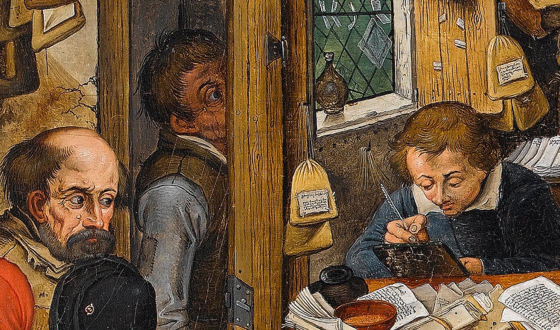 Фрагмент картины Питера Брейгеля мл.