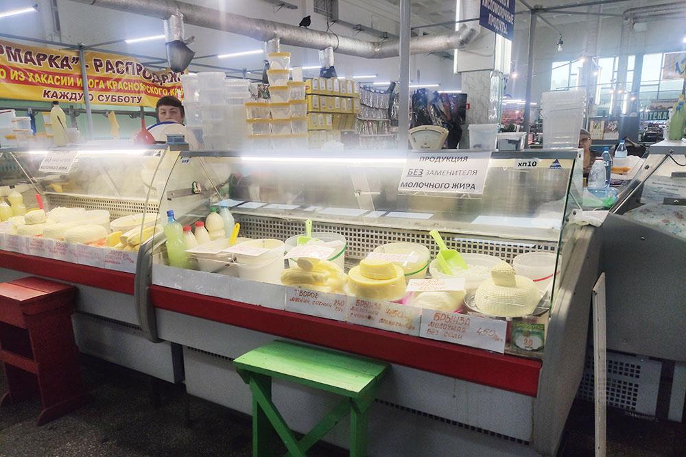 Молочная продукция наЦентральном рынке