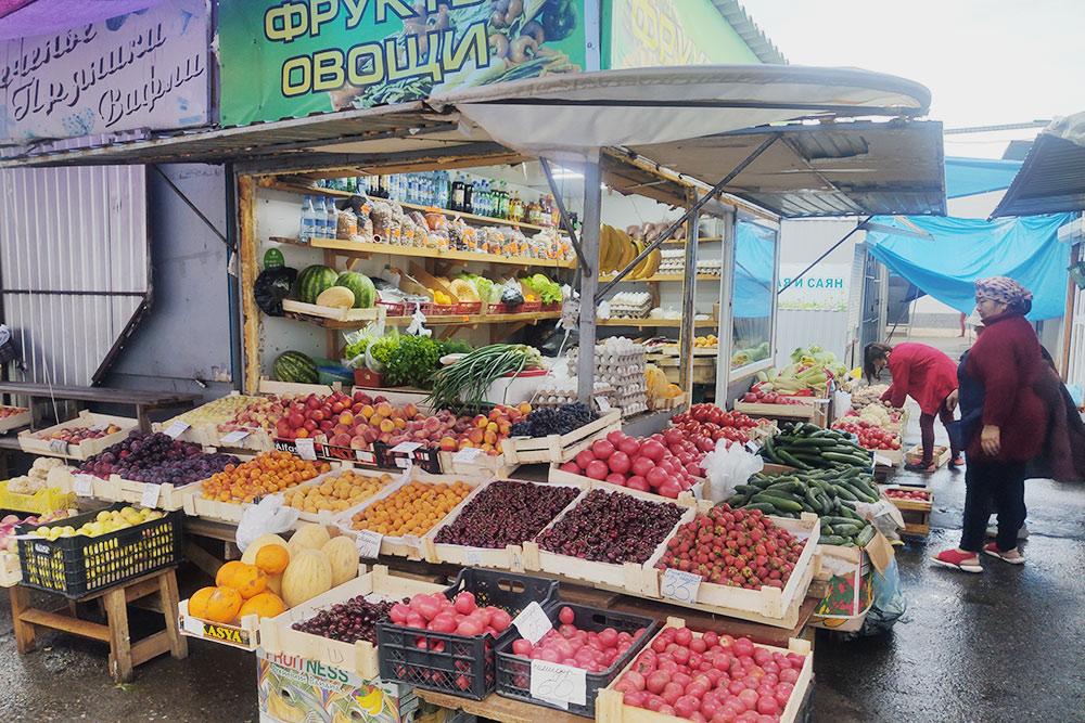 Центральный рынок Абакана— овощные ряды