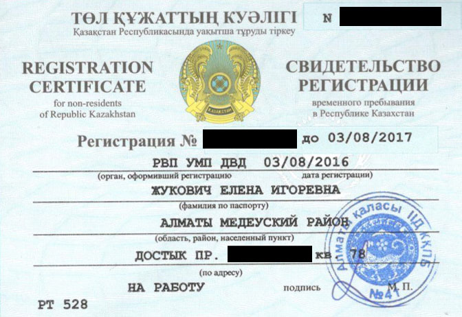 Моя регистрация по трудовому договору на год