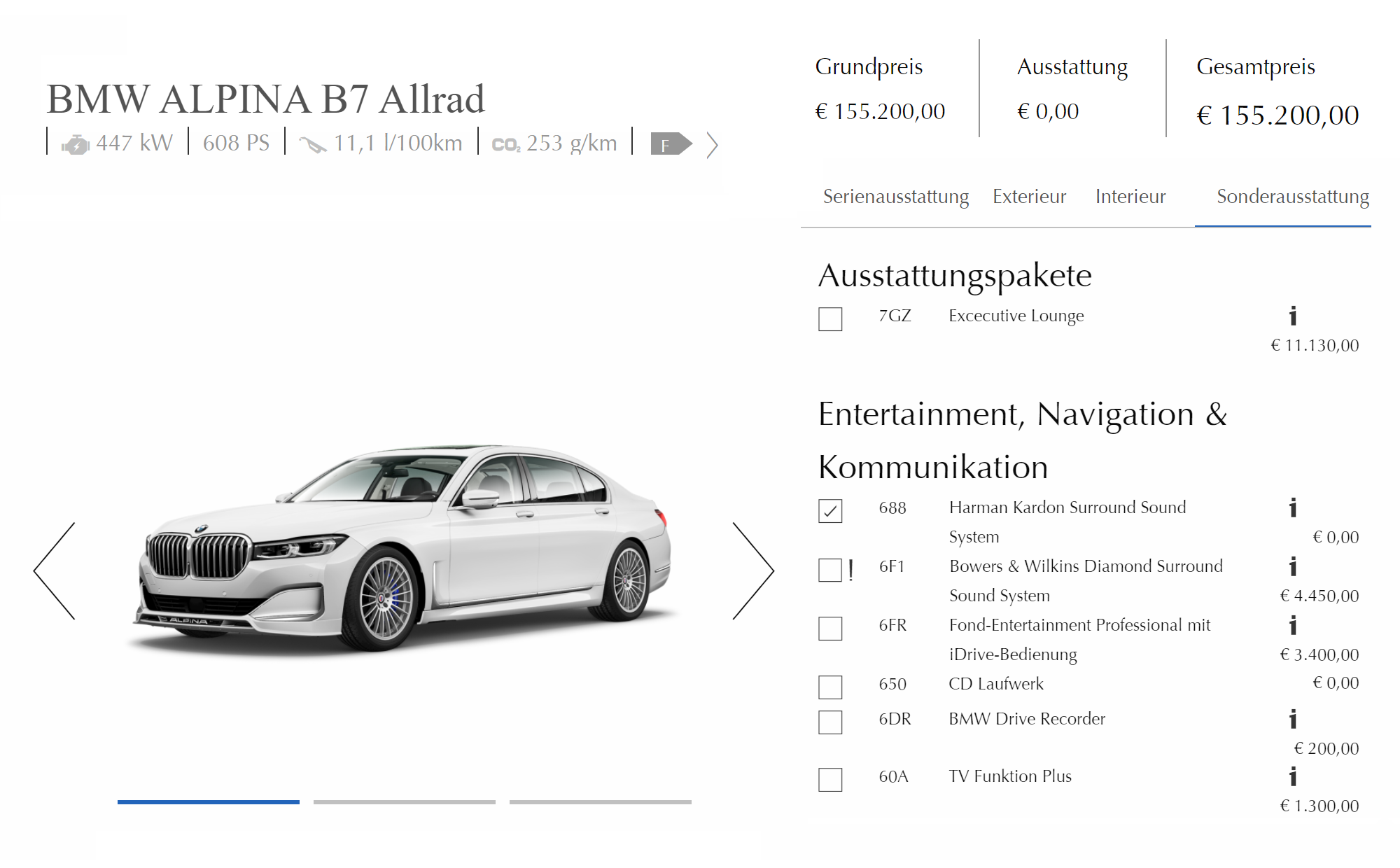 Конфигуратор на официальном сайте Альпины