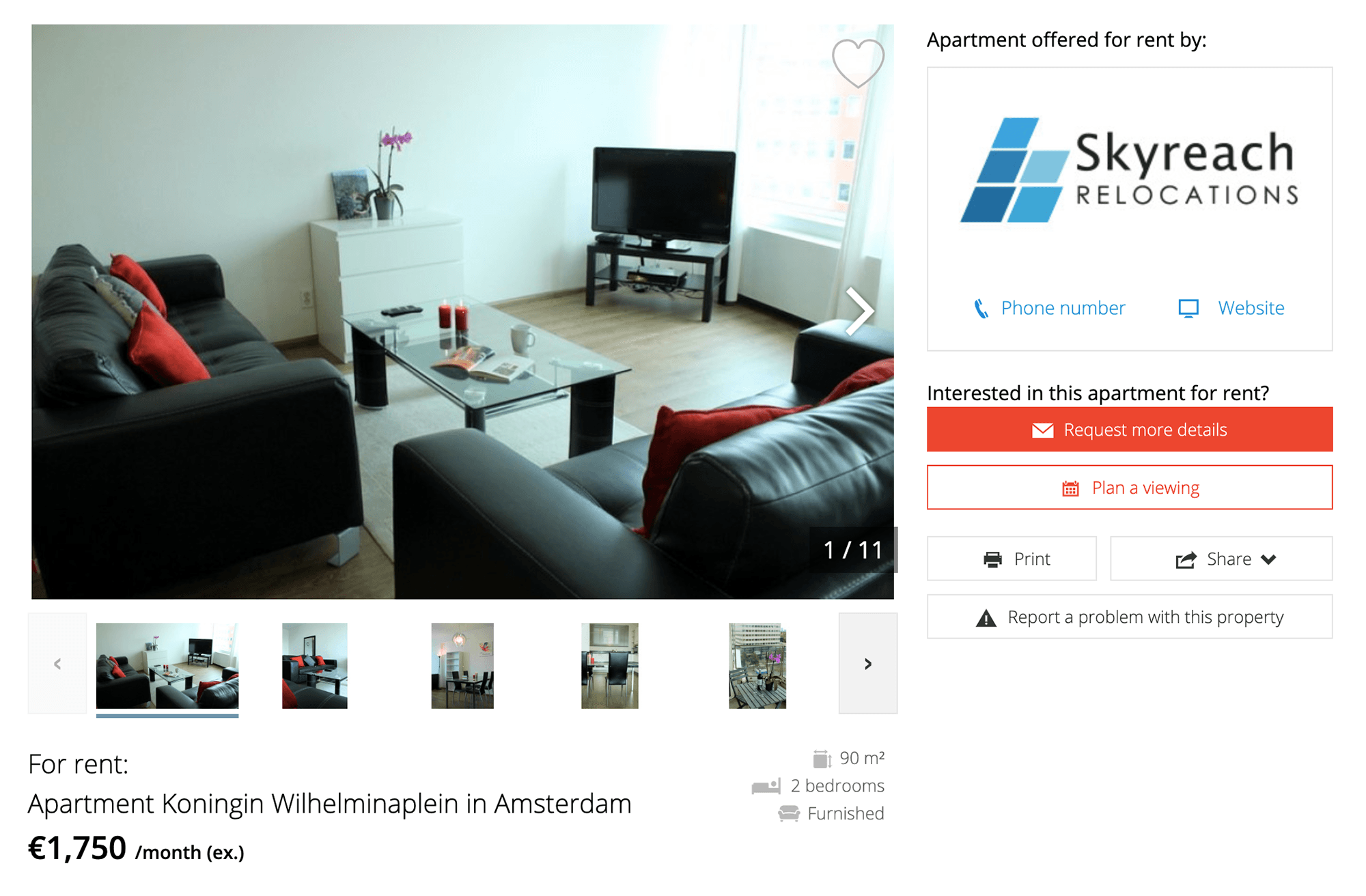 Квартира в районе Новый Запад (Nieuw West) не очень далеко от центра за 1750€ в месяц