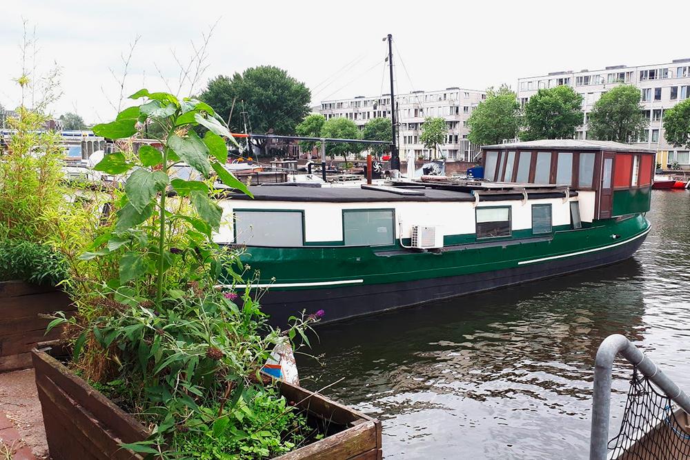 В Амстердаме можно жить и на лодке