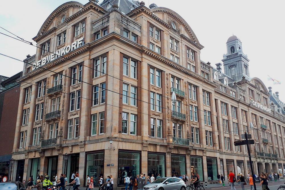 Торговый центр De Bijenkorf с люксовыми магазинами