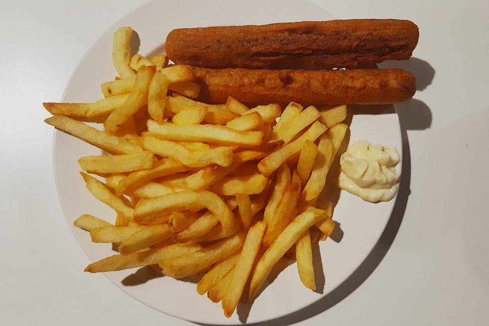 Картошка фри смайонезом Devos Lemmens ивианделями — эторазновидность крокетов