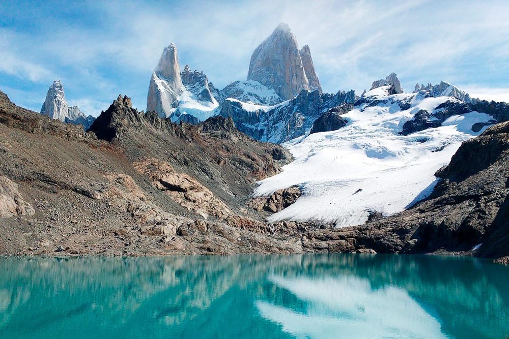 На гору Фицрой открывается, по моему мнению, самый яркий вид во всей Патагонии. Дожидаться его три недели было нисколько не жалко