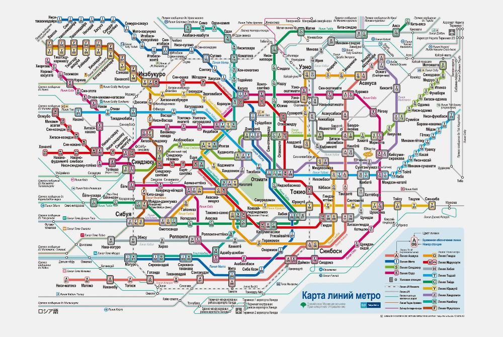 Глядя на карту токийского метро, можно сойти с ума