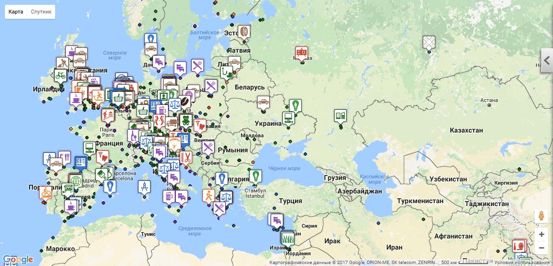 Где принимают к оплате биткоины — карта с сайта Usebitcoins.info