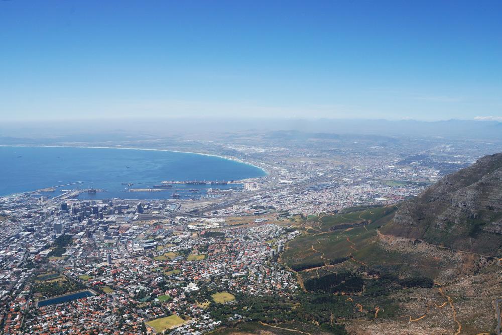 Вид на город со Столовой горы