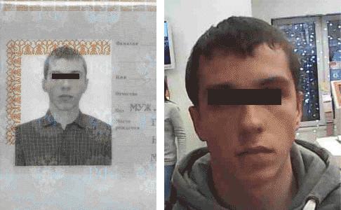 Клиент, пришедший в салон с моим паспортом. Фото справа сделано в салоне связи