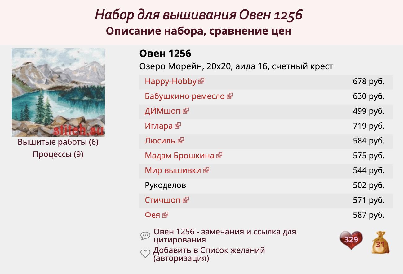 Сравнение цен на «Озеро Морейн» на сайте stitch.su. Этот набор — хит осенней вышивальной выставки «Формула рукоделия»