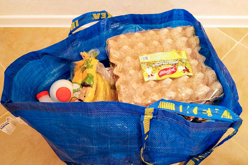 С такой сумкой мы ездим за покупками