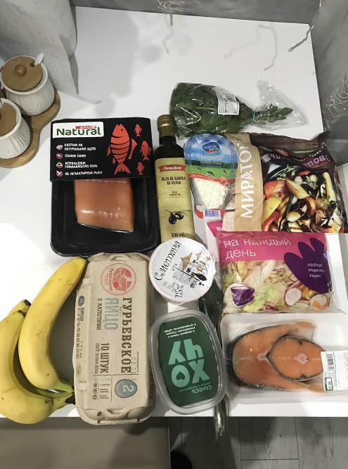 Продукты, купленные после прогулки