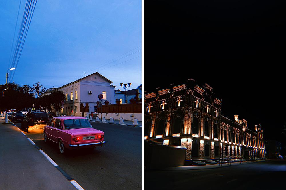 В городе появились отреставрированные здания сподсветкой. Очень красиво