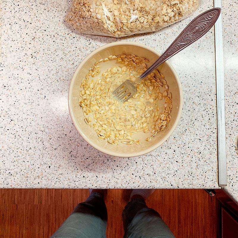 Процесс приготовления завтрака