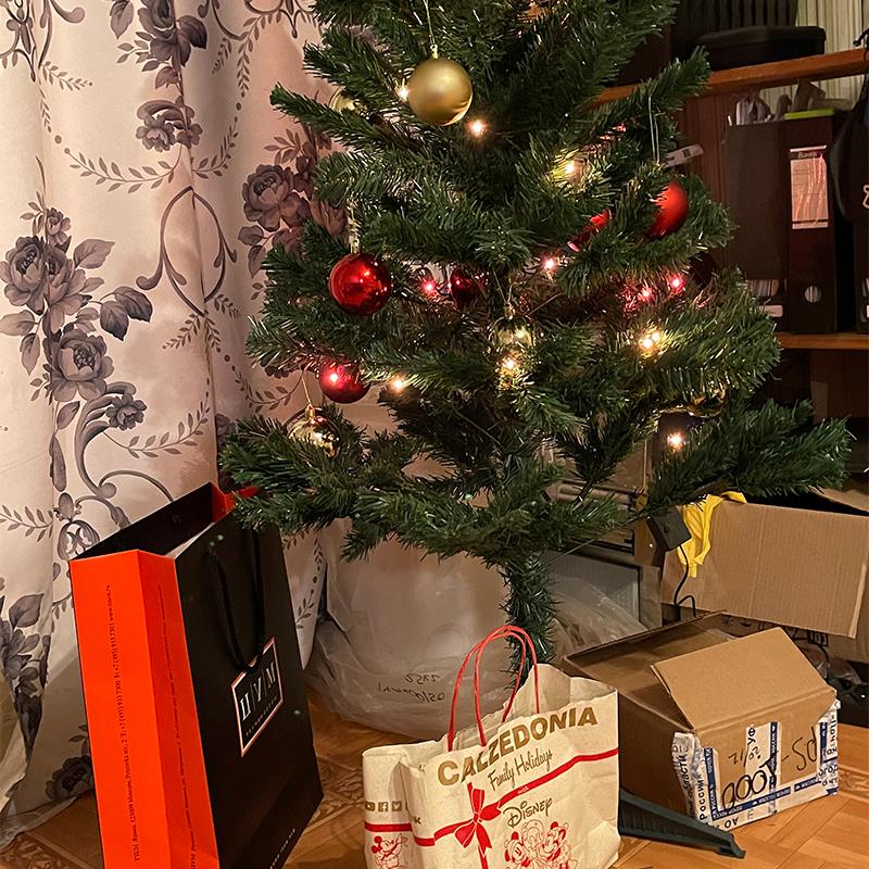 Вечером поставили елку. Не знаю, какой сюрприз мне приготовила жена на Новый год. Я, если честно, еще не думал надподарком: некогда. Вот пальто недавно купили. Думаю, можно приурочить его к Новому году как подарок:)