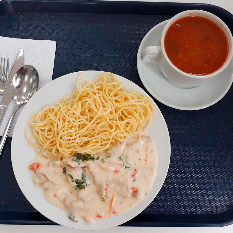 Еда в кафетерии на работе: вкусно, но дорого