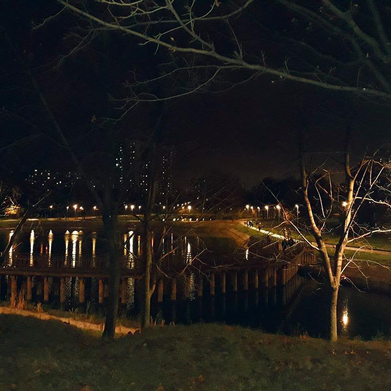 У нас здесь тоже есть красивые пруды и парки