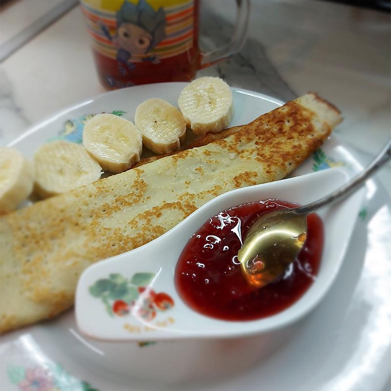 Завтрак для сына