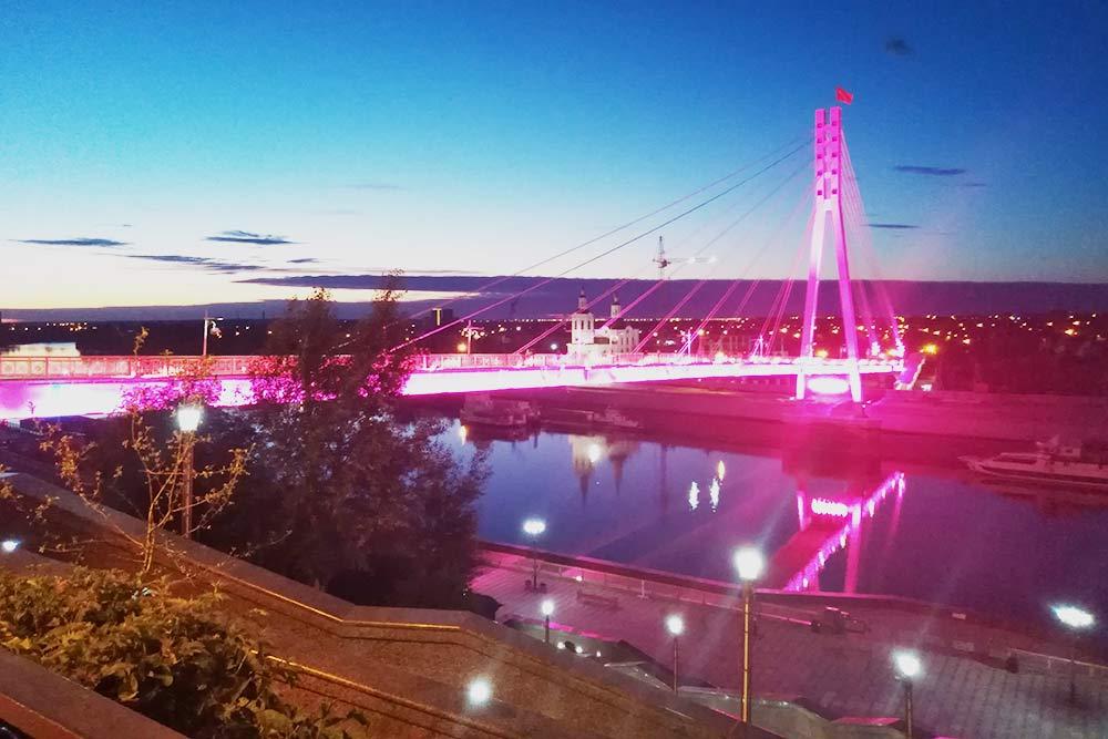 Вид на мост Влюбленных