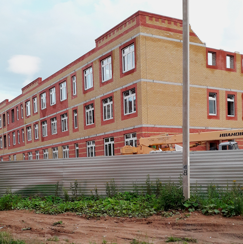 В районе строят новую школу