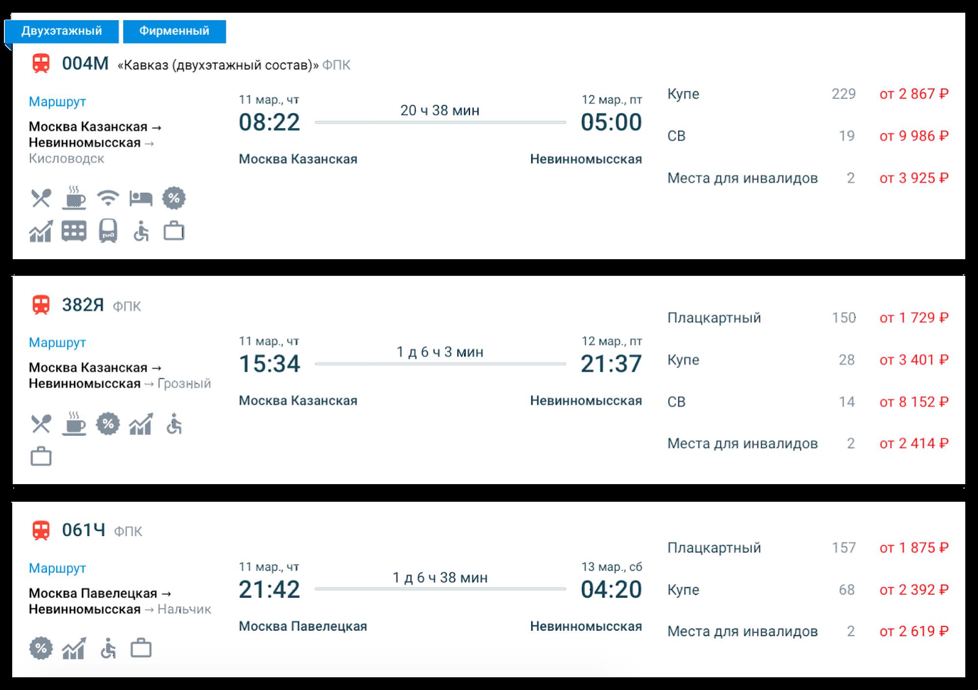Смотрела цены на билеты в январе дляпоездки в марте 2021года. Источник: rzd.ru