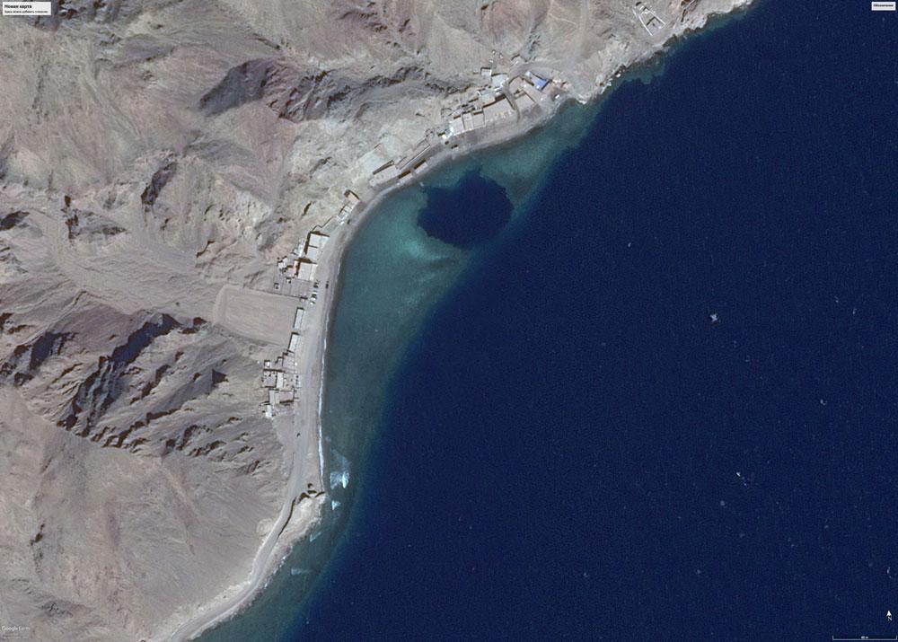 На карте Блухол выглядит как синий круг