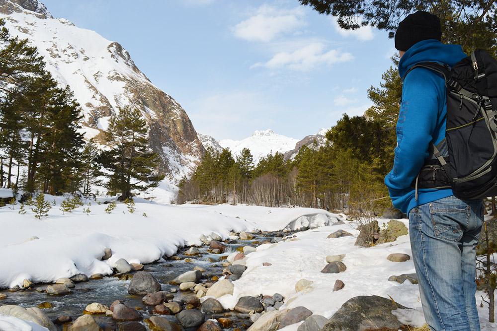 Прогулка вдоль ручья не менее живописна, чем катание с гор
