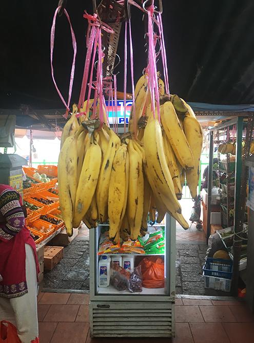 Огромные бананы на прилавках в Маленькой Индии