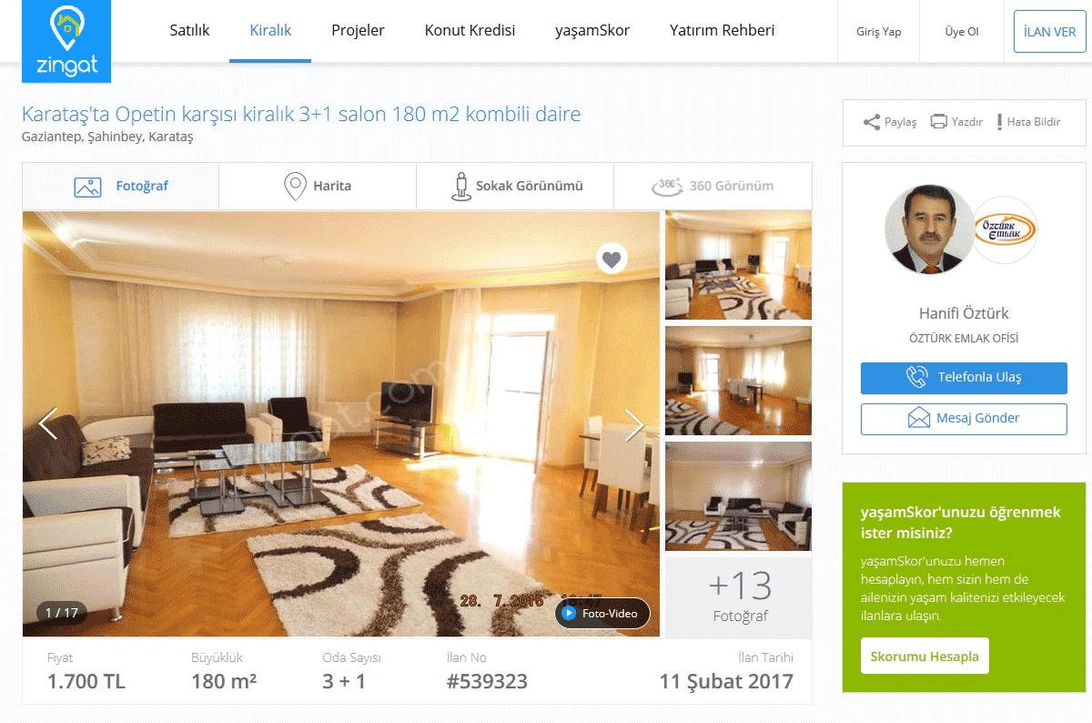 Квартира с тремя спальнями площадью 180 м² в хорошем районе обойдется в 1700 лир в месяц