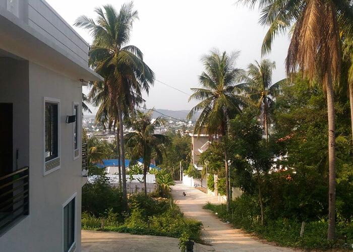 На острове Фукуок мы жили в окружении тропических деревьев