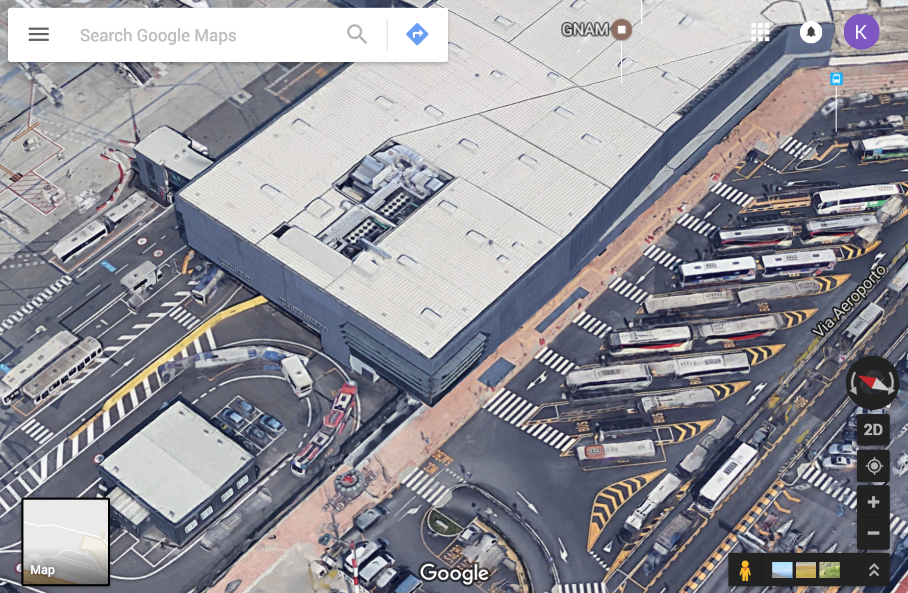 Расположение автобусной остановки в аэропорту Бергамо