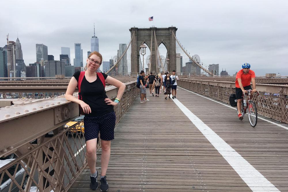 Это я наБруклинском мосту, анафоне — Манхэттен