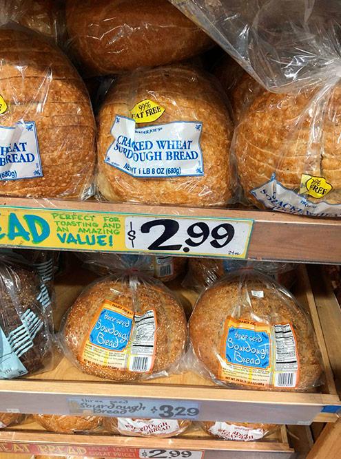 Хлеб в США дорогой — 2,99$ за 680г