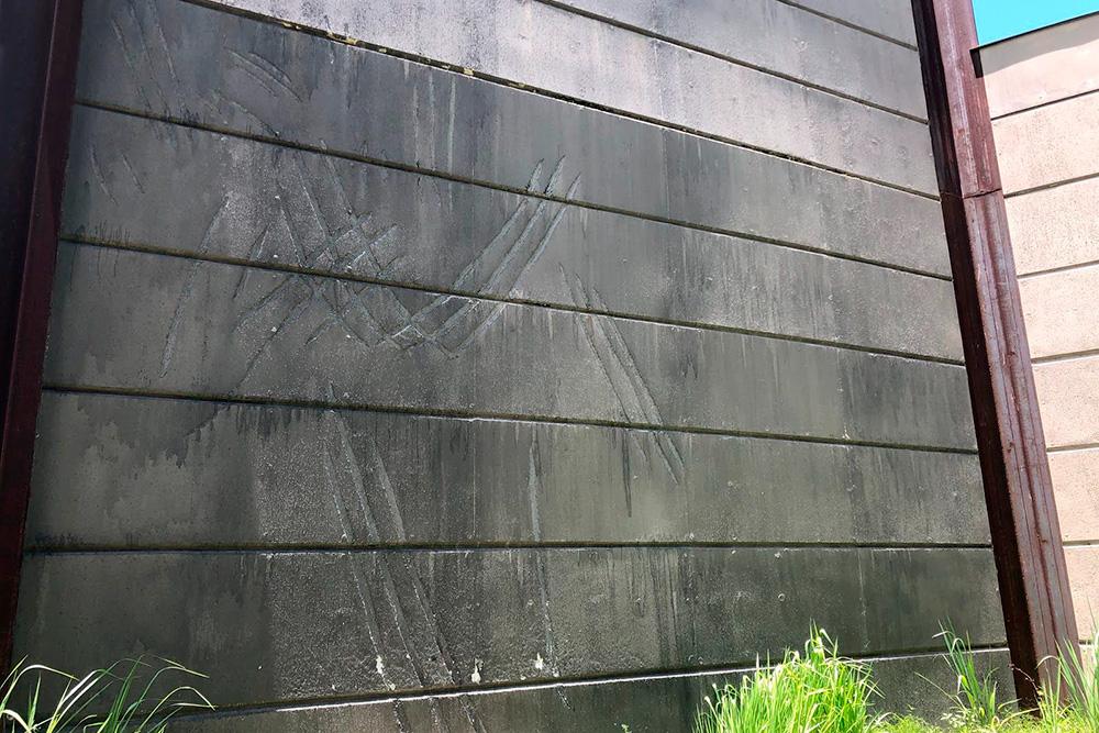Стена вольера Индоминуса рекса, сохраненного вджунглях после съемок фильма «Мир юрского периода»