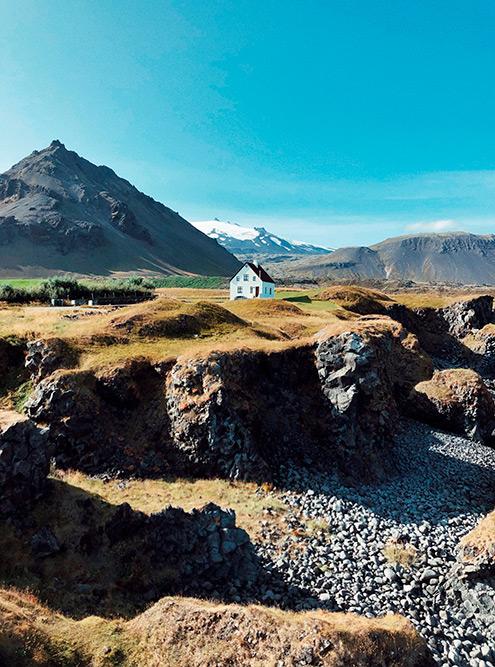 Одинокий дом на полуострове Снайфедльснес