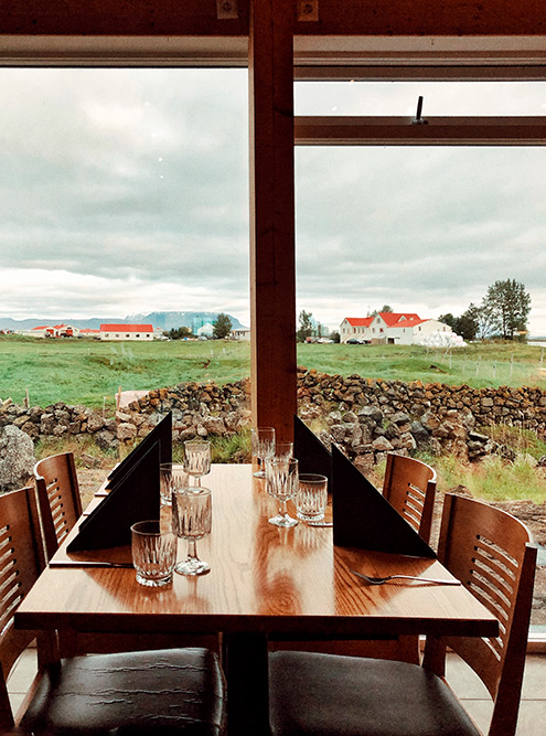 Исландцы любят панорамные окна, ресторан приферме Vogafjós Farm Resort — еще одно тому подтверждение