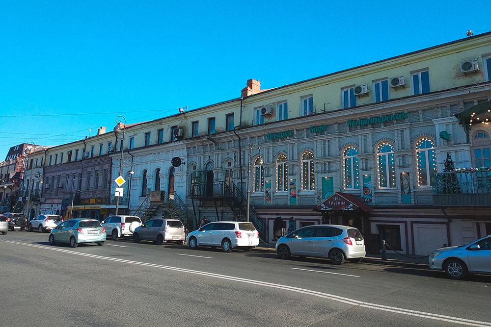 Улица Пограничная вцентре Владивостока