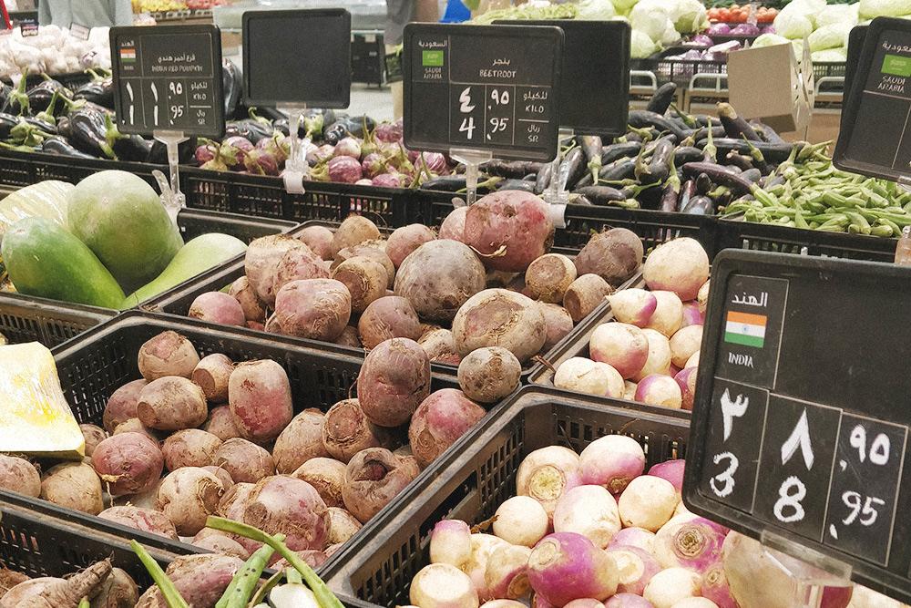 Привычная нам свекла в саудовских супермаркетах часто соседствует с экзотическими азиатскими овощами