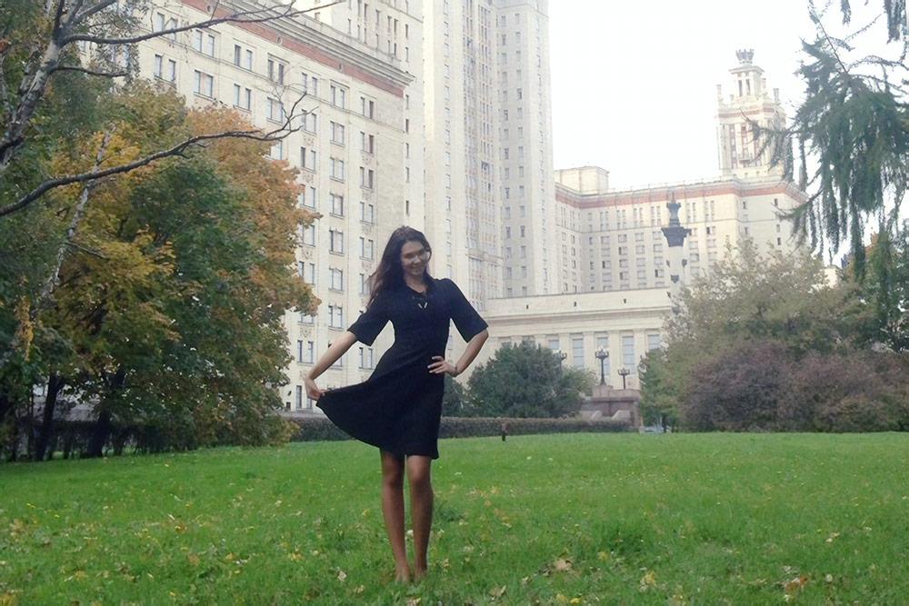 Женя получила в этом году диплом бакалавра МГУ