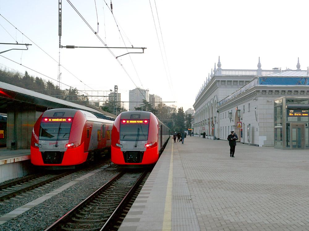 Электропоезд «Ласточка», Сочи. Фото: Википедия