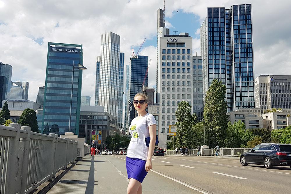 Высотки делового квартала во Франкфурте. Я живу в этом городе с 2018 года