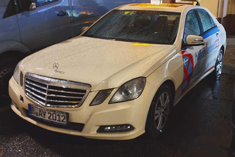 Вот так выглядит стандартное немецкое такси