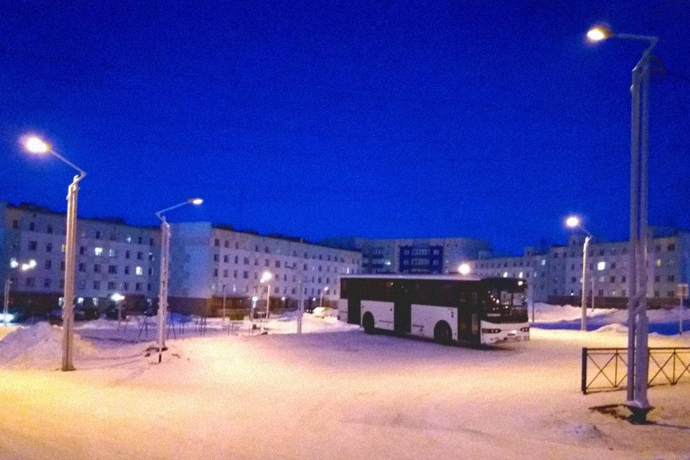 Зимой в автобусах комфортно и можно спастись от холода. Проезд бесплатный