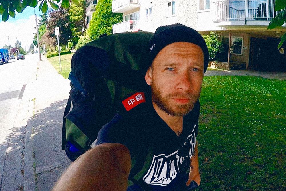 В 2017 году я путешествовал с рюкзаком на 80 л. Это фото сделано в Ванкувере