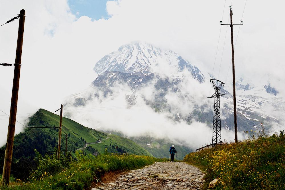 Вид, открывающийся после подъема на перевал Bellevue