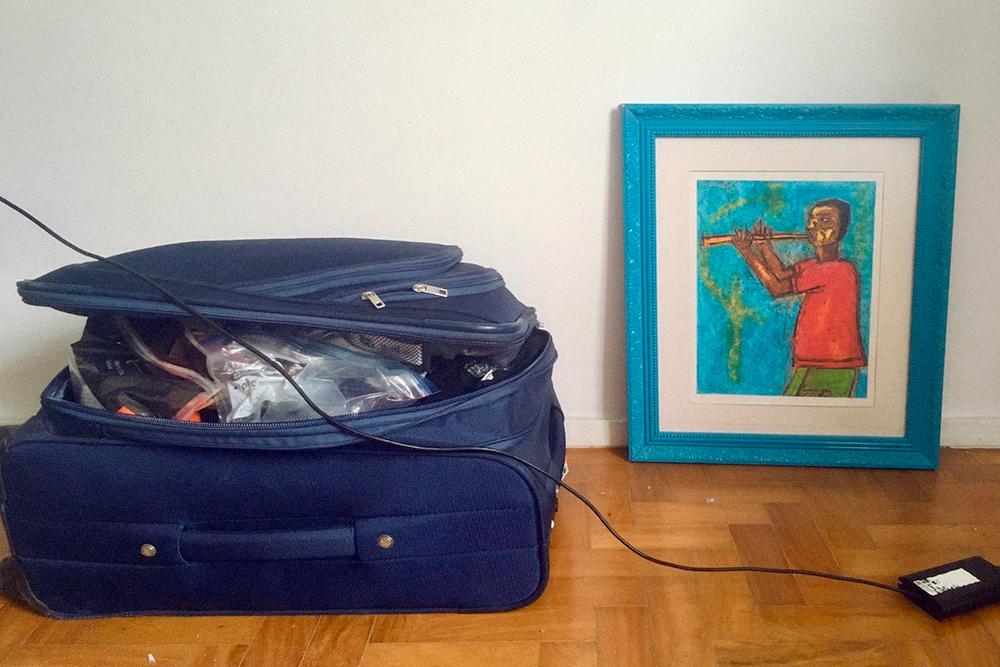 Сейчас я уже езжу везде с чемоданом. Фото сделано в бразильском Сан-Паулу в феврале 2019года