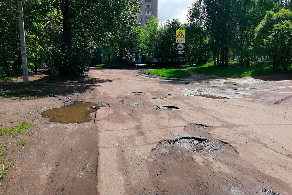 Так выглядит дорога недалеко от моего дома