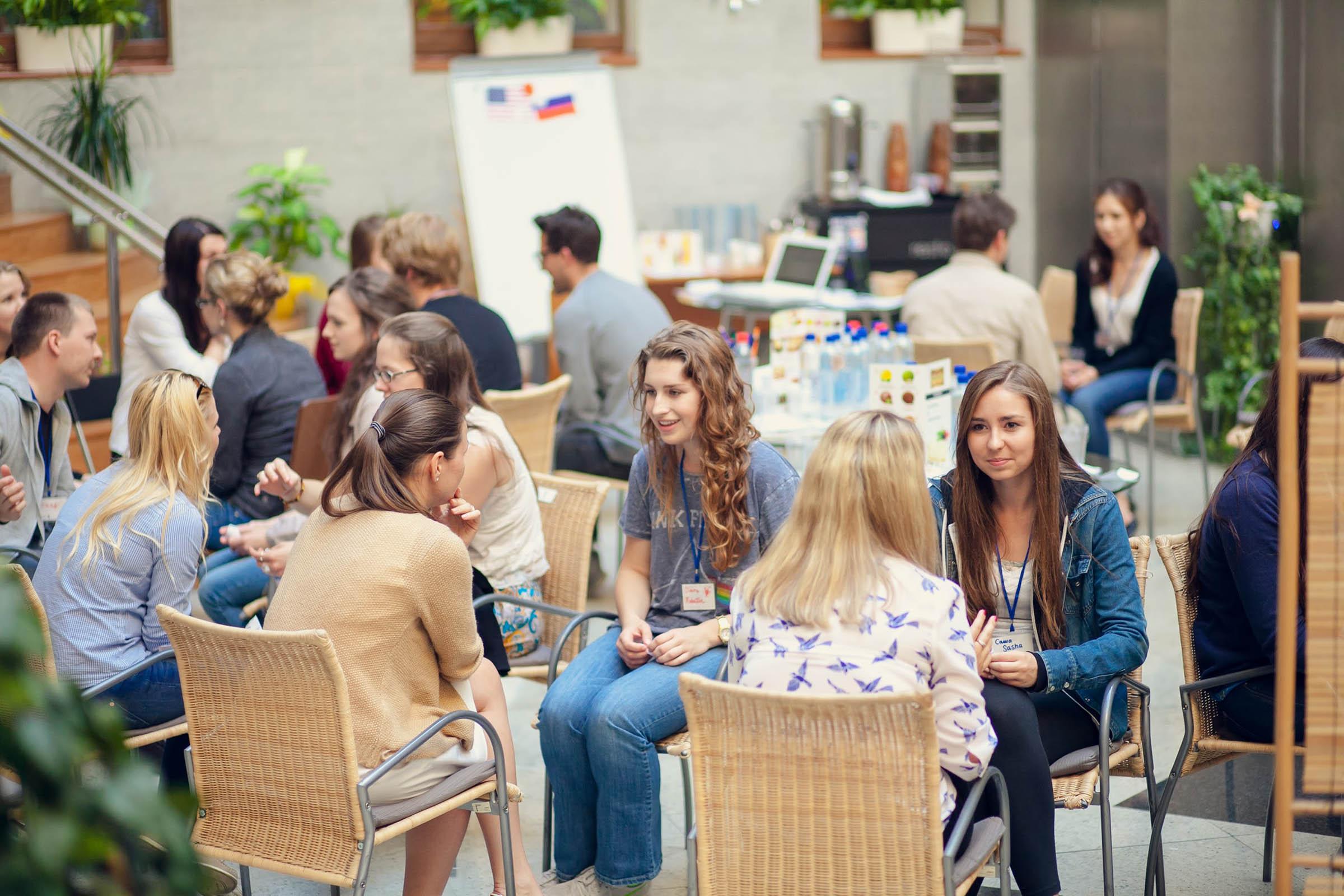 Летом 2014 года «Лингвоэксперт» проводил для корпоративных студентов языковый обмен с американцами
