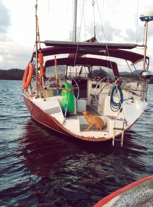 На этой лодке я шесть дней плыл из Панамы в Колумбию